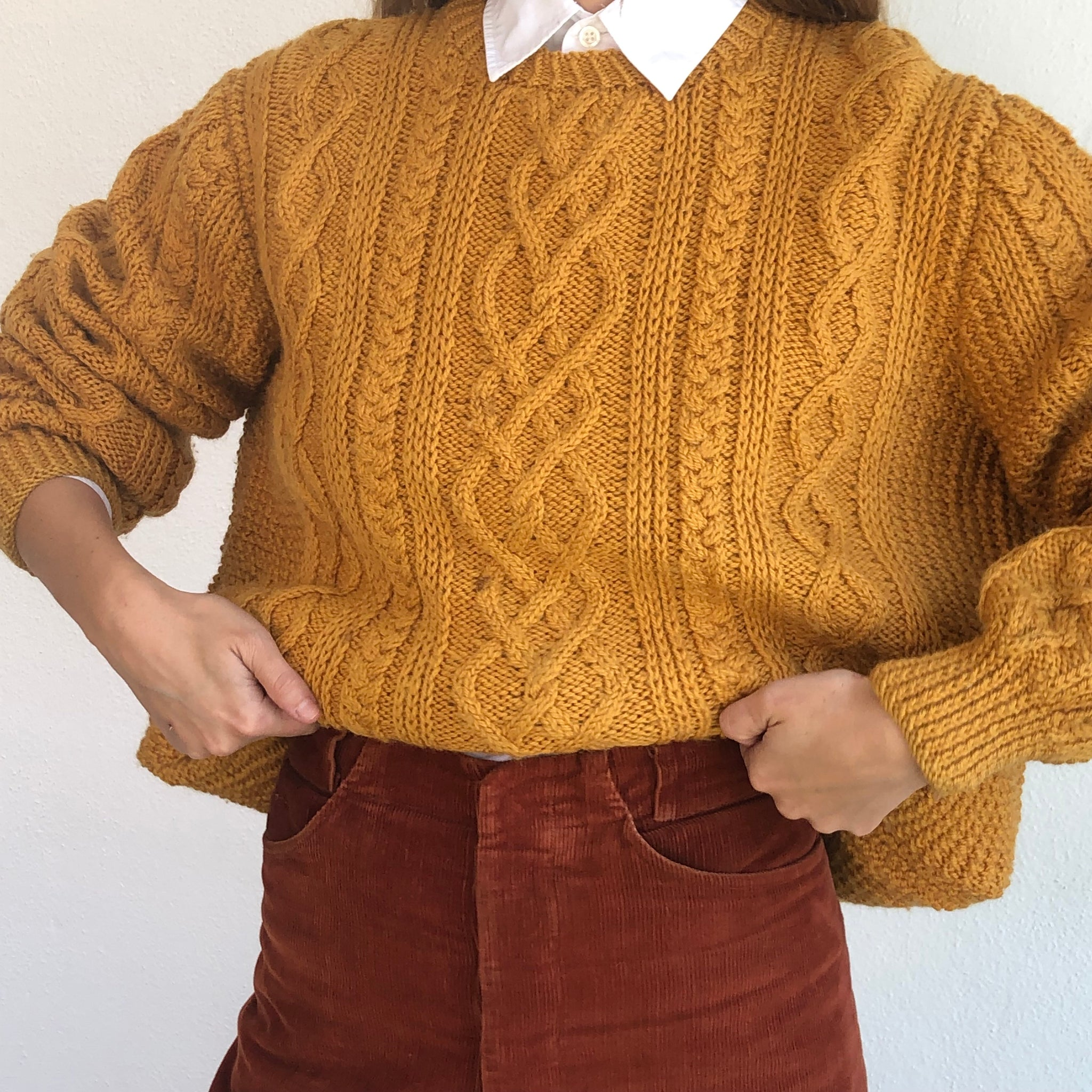Golden Rod Oversized Wool Knit - Size Small to Large