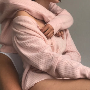 Blush Angora Knit - Size Sm/Md