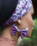 ELLIE Batik Bow Hoops - MaryamBayam – Better in Batik