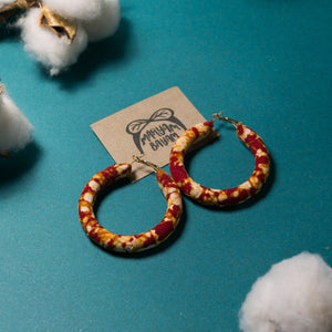 Grace Batik Wrapped Hoops