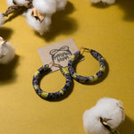 Ivy Batik Wrapped Hoops