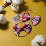 Betty Batik Bow Hoops