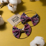 Crysta Batik Bow Hoops