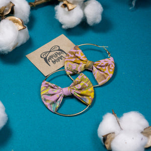 RAHMAH Batik Bow Hoops (Mini)