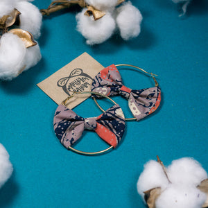 QISTINA Batik Bow Hoops (Mini)