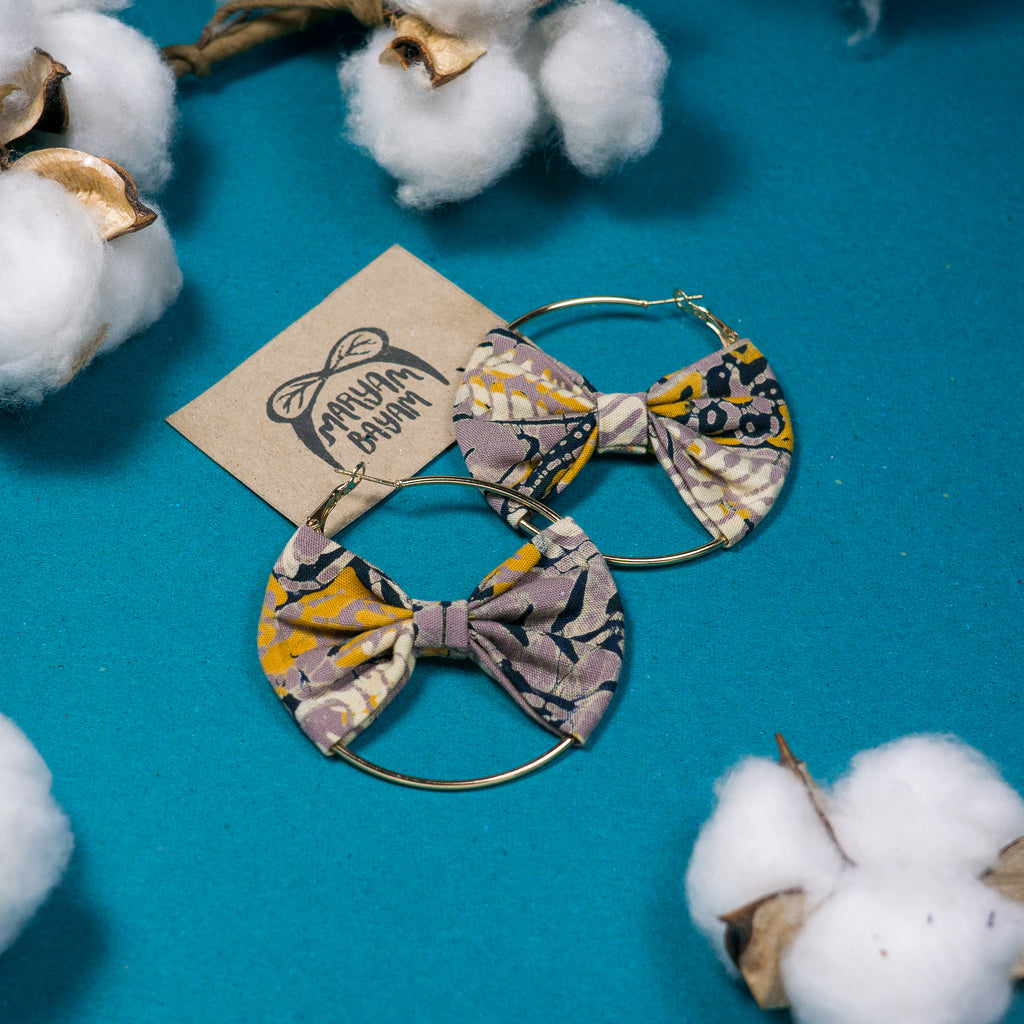 KALSOM Batik Bow Hoops (Mini)