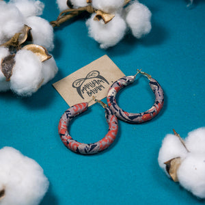 ANITA Batik Wrapped Hoops