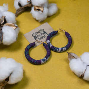 ZAITUN Batik Wrapped Hoops