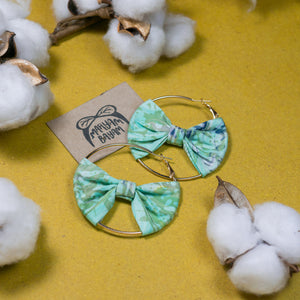 SALOMA Batik Bow Hoops (Mini)