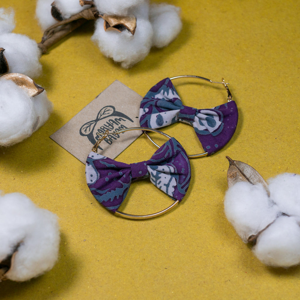 ZAITUN Batik Bow Hoops (Mini)