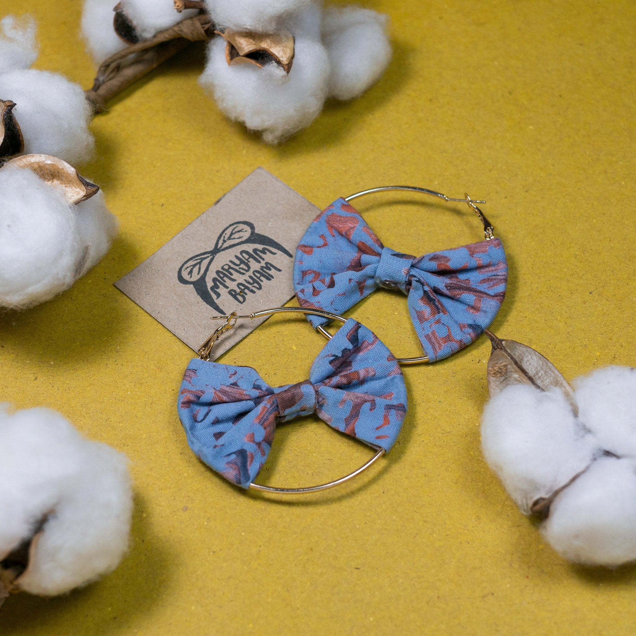 ROHANA Batik Bow Hoops (Mini)