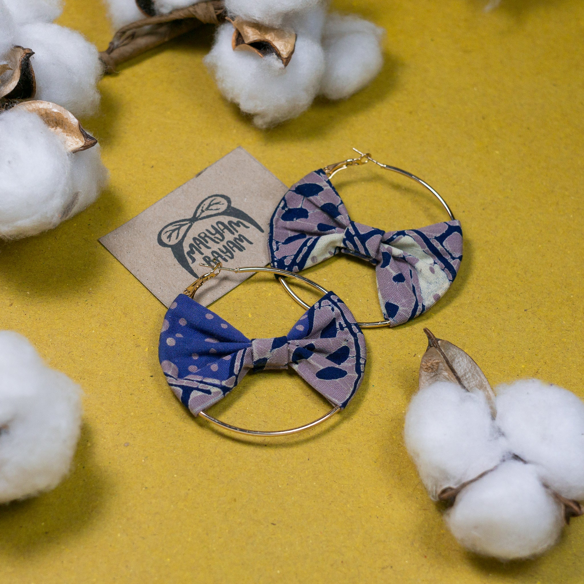SARIMAH Batik Bow Hoops (Mini)