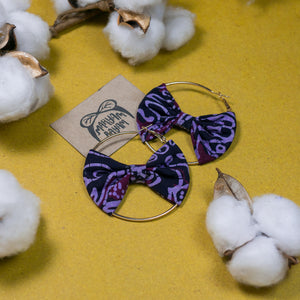 MELATI Batik Bow Hoops (Mini)