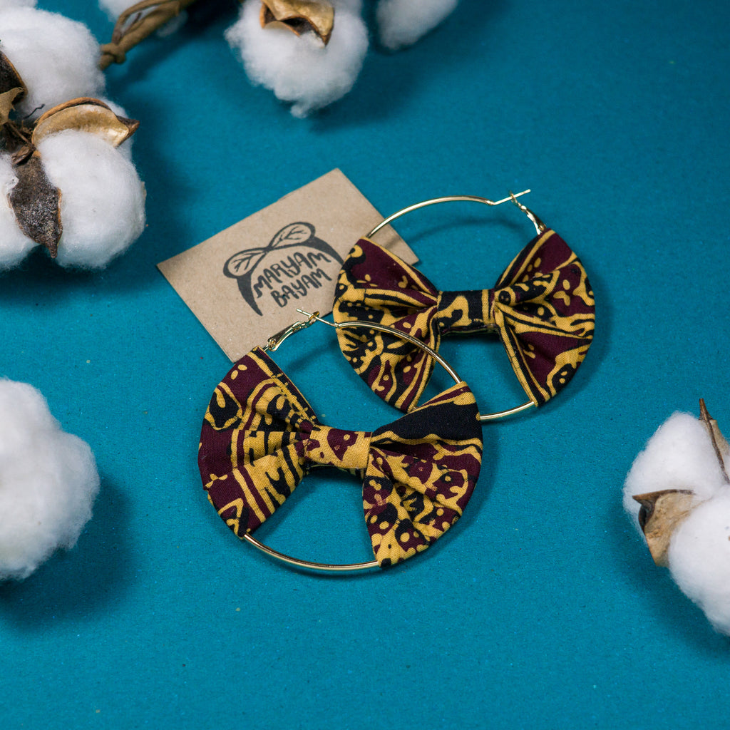 WARDAH Batik Bow Hoops