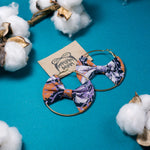ANYA Batik Bow Hoops (Mini)
