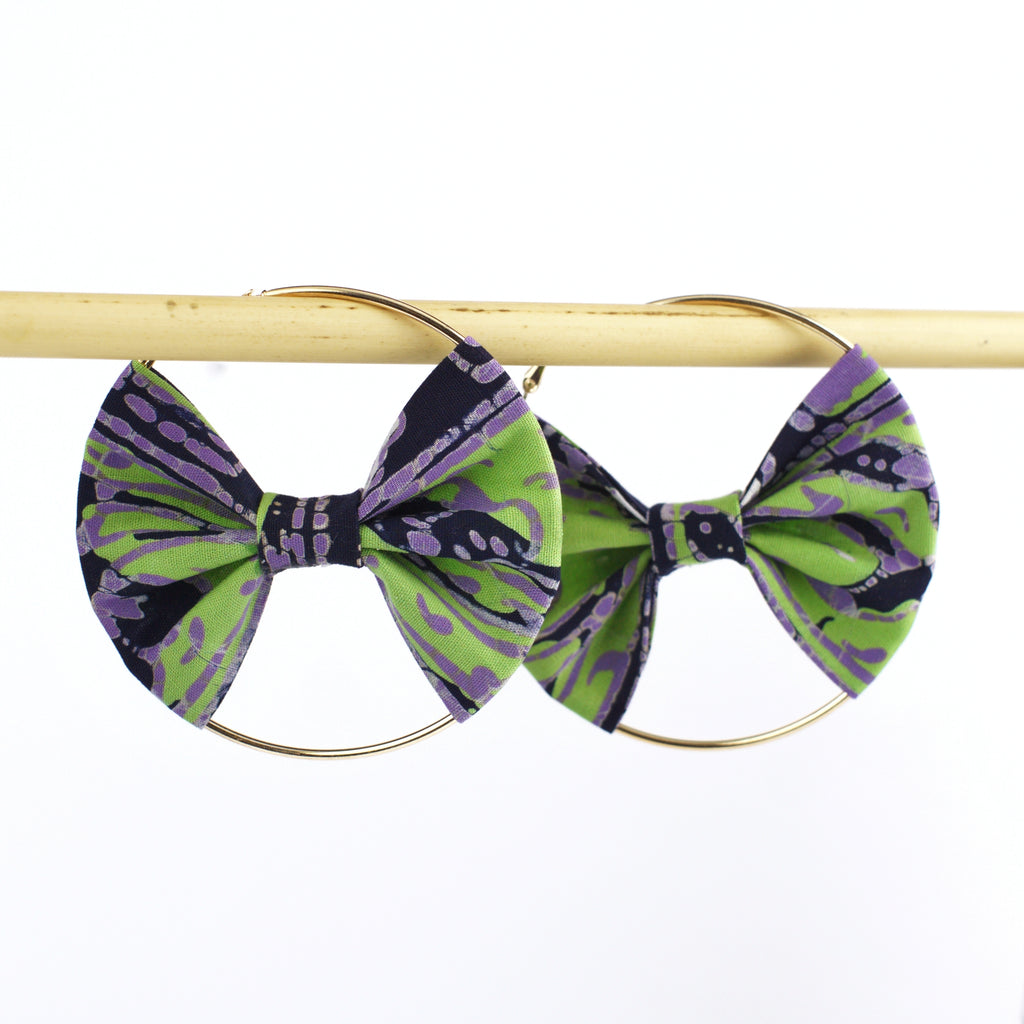 RAISA Batik Bow Hoops - MaryamBayam – Better in Batik
