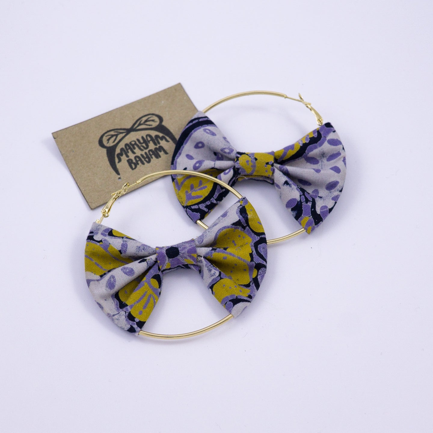 KATRINA Batik Bow Hoops - MaryamBayam – Better in Batik
