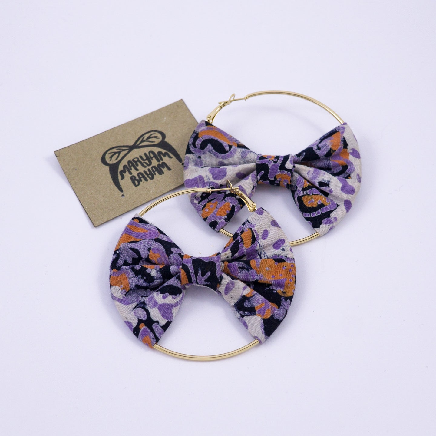 GAIA Batik Bow Hoops - MaryamBayam – Better in Batik
