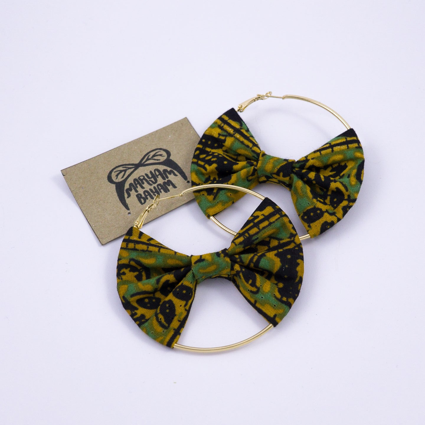 RITA Batik Bow Hoops - MaryamBayam – Better in Batik