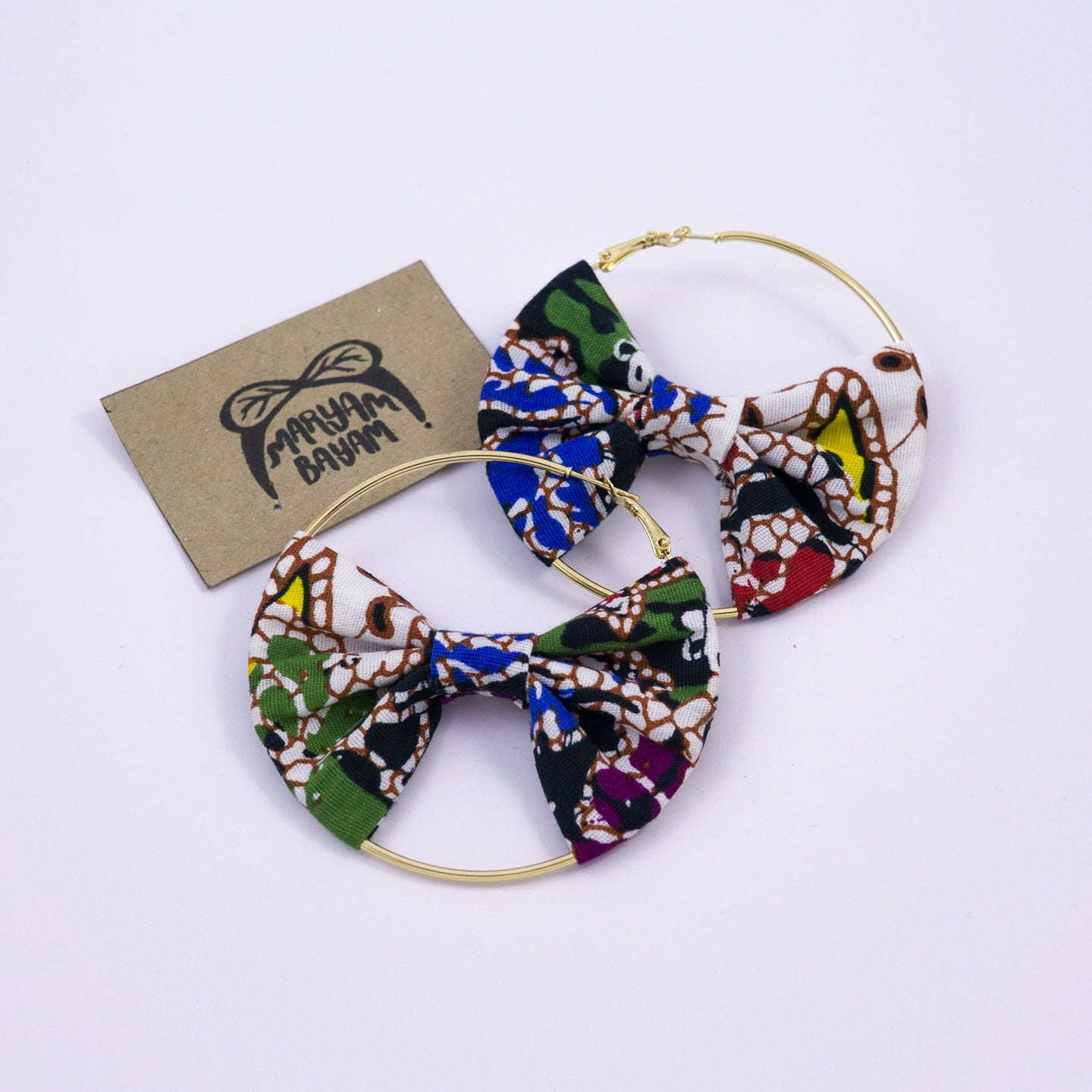 JOJO Batik Bow Hoops - MaryamBayam – Better in Batik