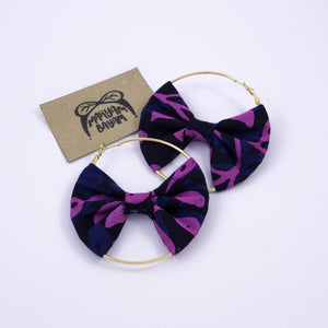 ROSA Batik Bow Hoops - MaryamBayam – Better in Batik