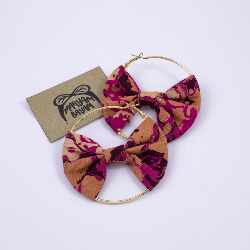 ALEXA Batik Bow Hoops - MaryamBayam – Better in Batik