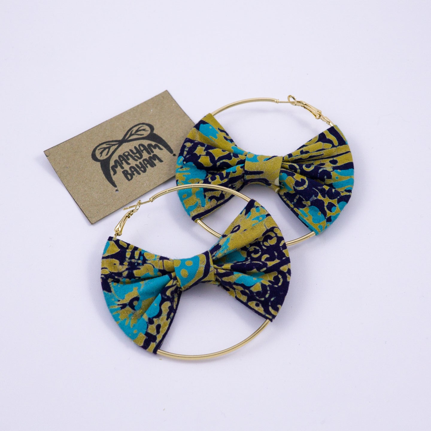 RHEA Batik Bow Hoops - MaryamBayam – Better in Batik