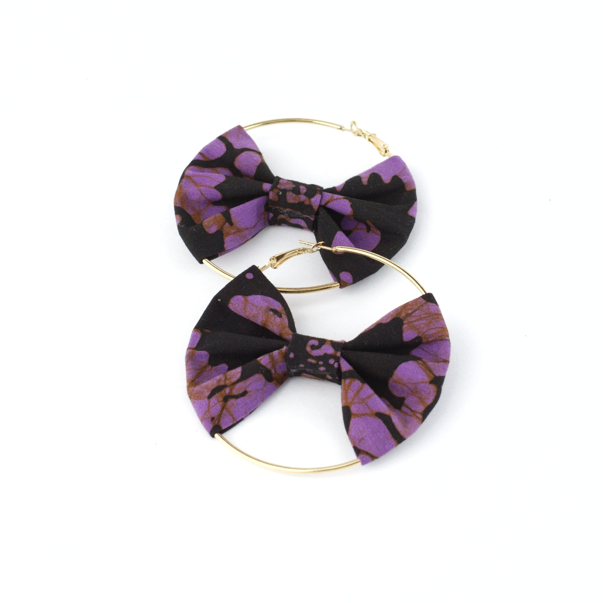 MALIKA Batik Bow Hoops - MaryamBayam – Better in Batik