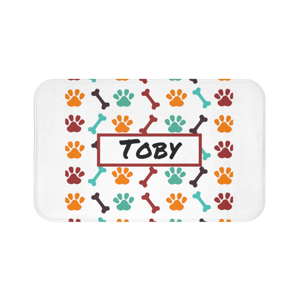 Personalized Dog Bath Mat - Real Estate Closing gifts, Housewarming gifts