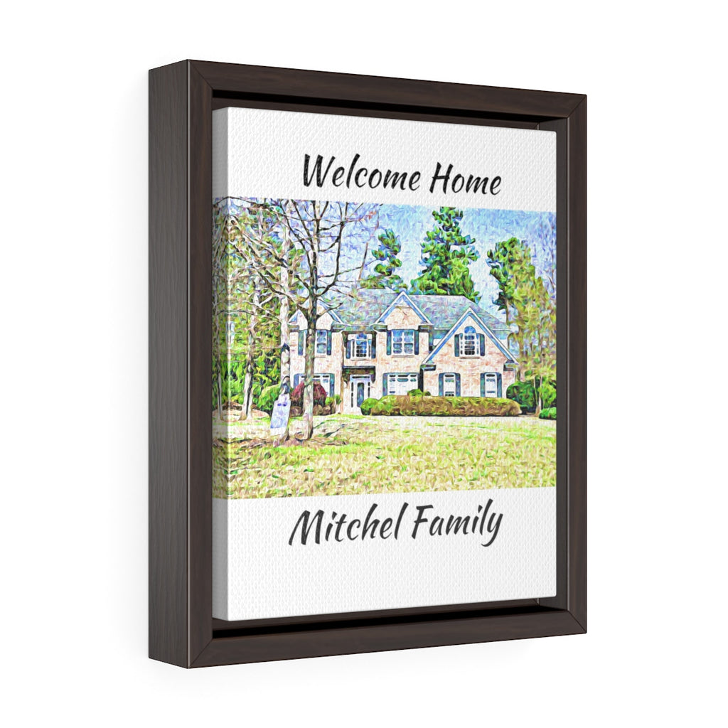 Personalized Gallery Wrap Canvas - Your Image - Real Estate Closing gifts, Housewarming gifts