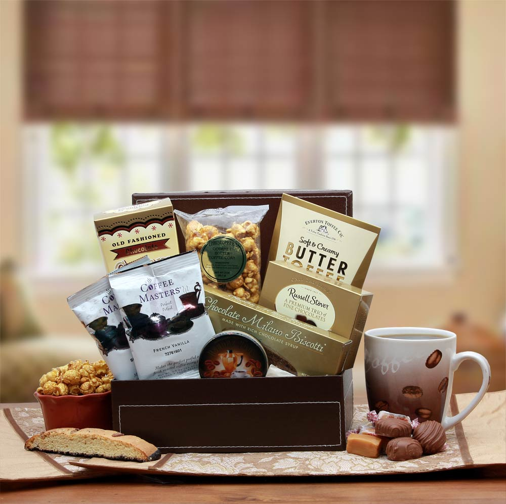 Coffee Break Gift Box - Gift Basket for Coffee Lovers - Real Estate Closing gifts, Housewarming gifts