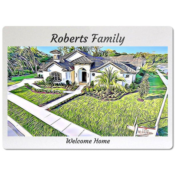 Personalized Glass Cutting Board Realtor closing gift - Real Estate Closing gifts, Housewarming gifts