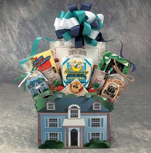 Welcome Home House Shaped Gift Basket- Housewarming - Real Estate Closing gifts, Housewarming gifts