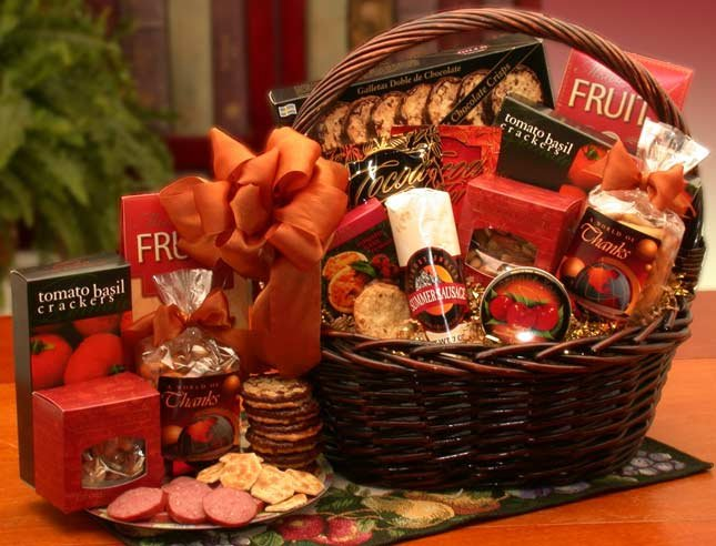 A Grand World Of Thanks Gourmet Gift Basket - Real Estate Closing gifts, Housewarming gifts