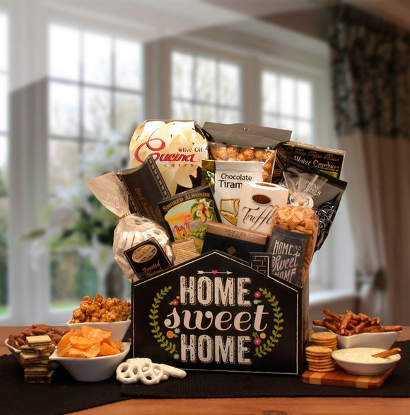 No Place Like Home Housewarming Gift Basket - Real Estate Closing gifts, Housewarming gifts
