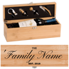 Personalized Wine Box -  One Bottle Set - Real Estate Closing gifts, Housewarming gifts