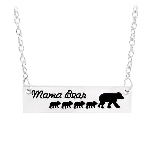 Free - Baby Mama Bear Engraved Animal Necklace - Just Pay Shipping