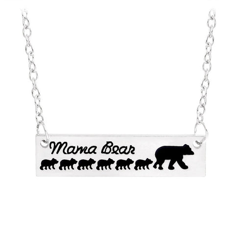 Image of Free - Baby Mama Bear Engraved Animal Necklace - Just Pay Shipping