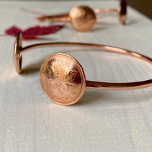 Load image into Gallery viewer, Canadian copper penny cuff bracelet