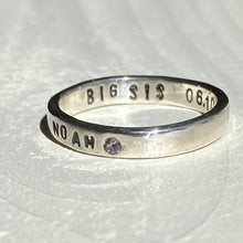 Load image into Gallery viewer, Family memory ring with birthstone