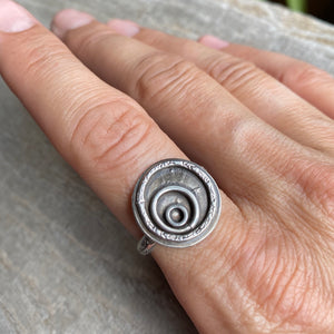 Ripples of change sterling silver ring - size 7