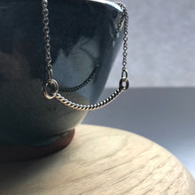 Load image into Gallery viewer, Twisted rope swing necklace in sterling silver