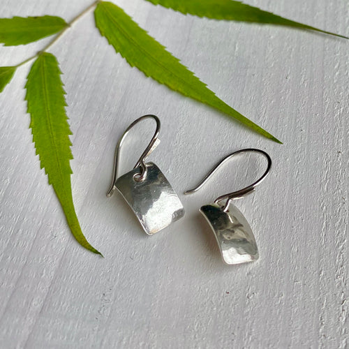 Just around the corner - sterling silver dangle earrings