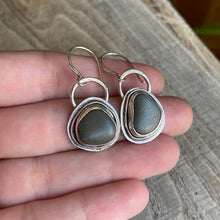 Load image into Gallery viewer, Pebbles by the beach - sterling silver earrings