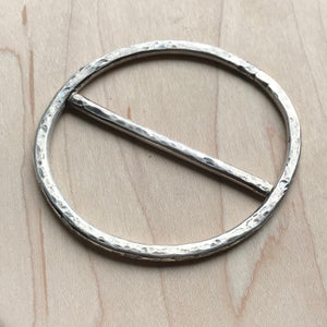 Scarf ring accessory - sterling silver