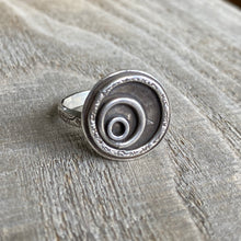 Load image into Gallery viewer, Ripples of change sterling silver ring - size 7