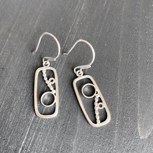 Art deco - dangle earrings in sterling silver
