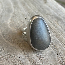 Load image into Gallery viewer, Beach stone and sterling silver ring - size 6.5