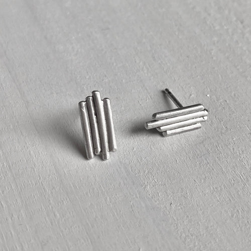 Solidarity - sterling silver ear studs