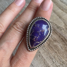Load image into Gallery viewer, Deep purple jasper sterling silver ring - size 6